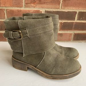 Like new Rocket Dog army green canvas ankle boots